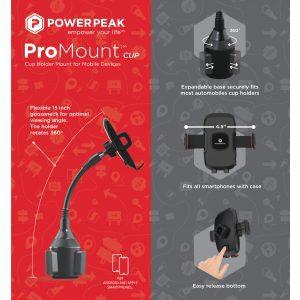 PowerPeak  - ProMount Car Mount Cup Holder