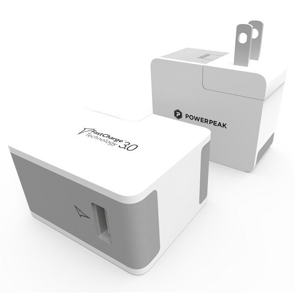 PowerPeak Fast Charge 3.0 Power Adaptor with 6ft MicroUSB Cable