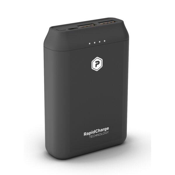 PowerPeak 10000mAh Portable charger {2 USB Charging Ports} - Black