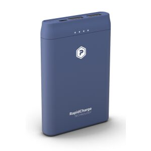 PowerPeak 5000mAh Portable charger {2 USB Charging Ports}  - Blue