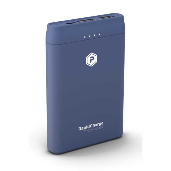 PowerPeak 5000mAh Portable charger {2 USB Charging Ports}  - Blue