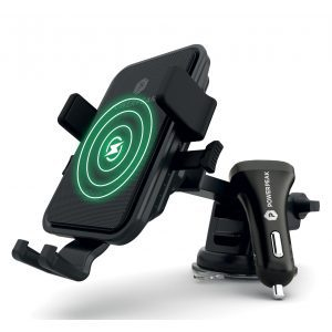 PowerPeak Wireless Car One touch Mount for Windshield / Dash Mount & Vent Mount