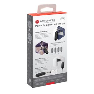 PowerPeak Clip On Ultra Portable Charger with Integrated Lightning Cable