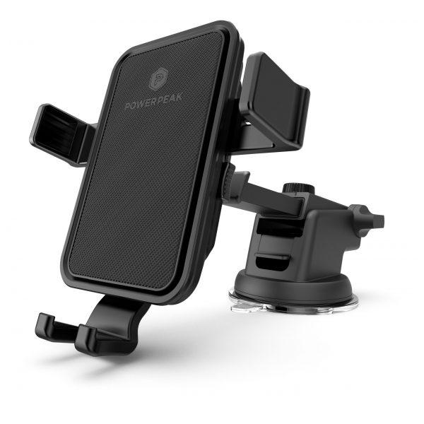 PowerPeak Car Mount - ProMount  One Touch Dash for Windshield / Dash Mount + Vent Mount