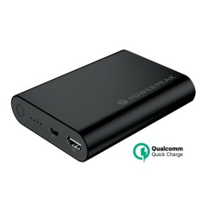 PowerPeak Portable Battery  Pack with Qualcomm Adaptive Fast Charge Technology (10400 mAH 75% Faster) - Black