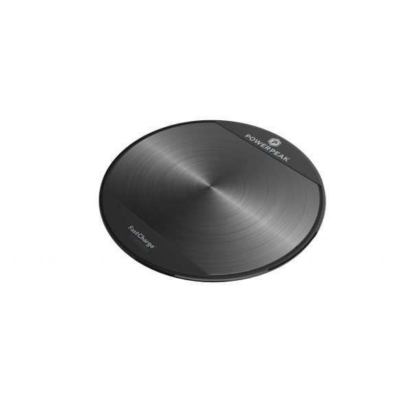 PowerPeak Adaptive Fast Charge Wireless Charging Pad for Qi Compatible  (1.4X Faster)