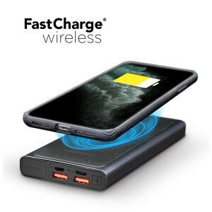 Power Peak 2-in-1 Portable Fast Charge Wireless Charger and Battery Pack 10,000 mAh