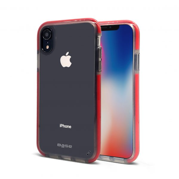 Base BORDERLINE - Dual Border Impact protection For iPhone XR - Red