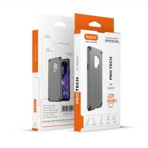 Base ProTech - Rugged Armor Protective Case for Galaxy S9 Plus - Gray