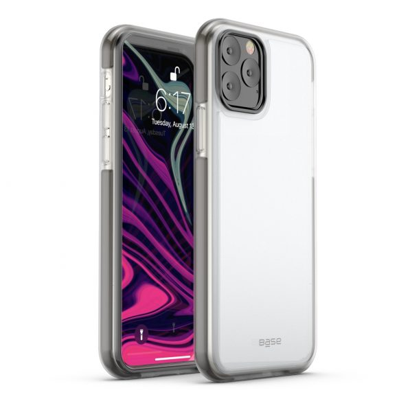 Base  IPhone 11 PRO Max (6.5) -BORDERLINE  Dual Border Impact protection - Grey