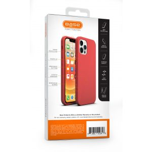 Base Liquid Silicone Gel/Rubber Case iPhone 12 / iPhone 12 Pro (6.1) - Red