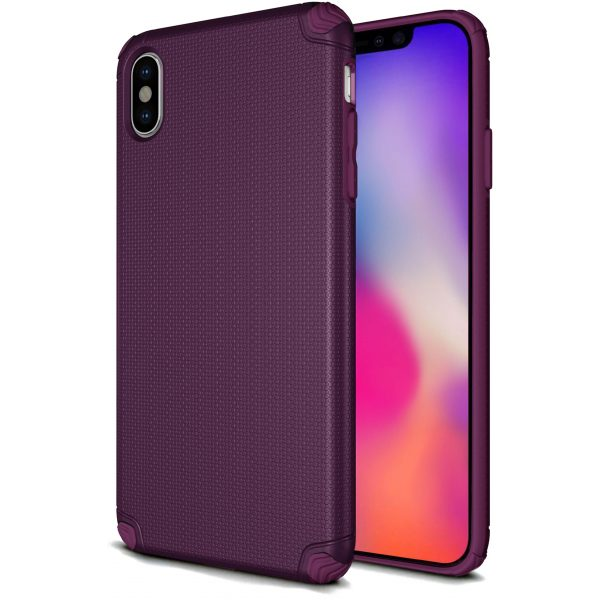 Base ProTech - Rugged Armor Protective Case for iPhone X Max - Purple