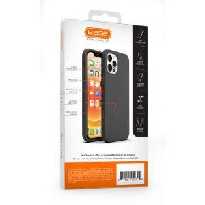 Base Liquid Silicone Gel/Rubber Case iPhone 12 / iPhone 12 Pro (6.1) - Black