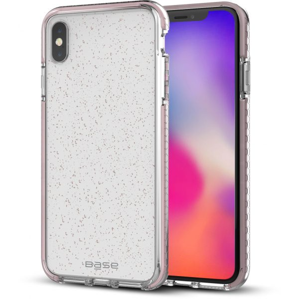 Base BORDERLINE - GLIMMER DUAL BORDER IMPACT PROTECTION FOR iPhone X Max - PINK