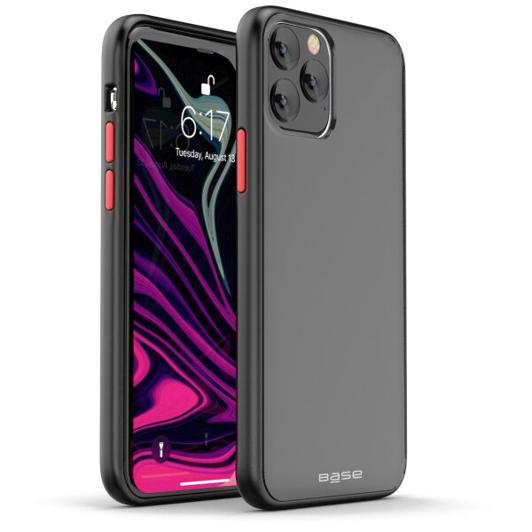 Base  IPhone 11 PRO Max (6.5) -DuoHybrid Reinforced  Protective Case  - Clear/Black