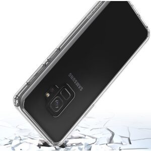 Base Crystal Shield - Reinforced Bumper Protective Case for Samsung S9 - Clear