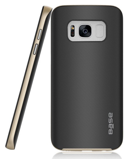 Base DuraSlim Fiber - Protective Case with Reinforced Bumper for Samsung Galaxy S8 Plus - Gold