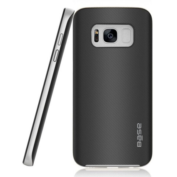 Base DuraSlim Fiber - Protective Case with Reinforced Bumper for Samsung Galaxy S8 Plus - Silver