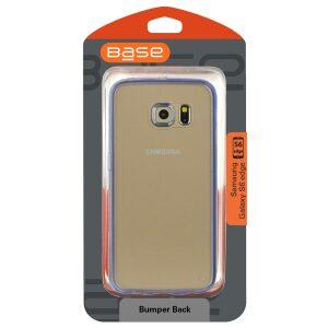 Base Samsung Galaxy S6 Edge Ultra Slim Bumper Back - Blue / Clear