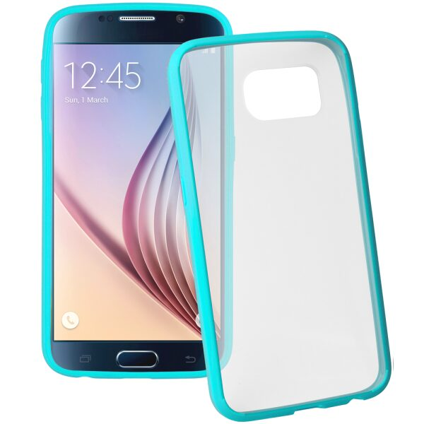 Base Samsung Galaxy S6 Ultra Slim Bumper Back - Teal