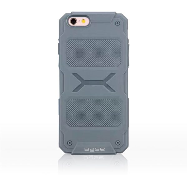 Base ProTech - Rugged Armor Protective Case for iPhone 6 Plus - Grey - BULK NO PACKAGING!
