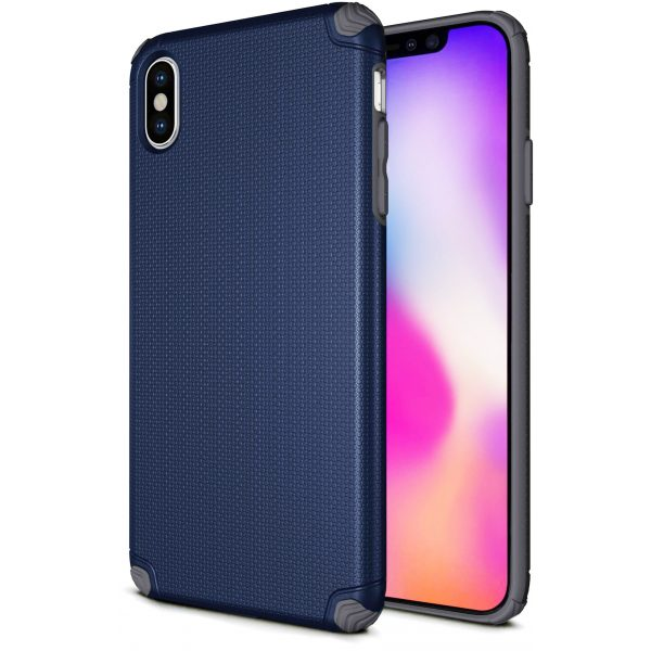 Base ProTech - Rugged Armor Protective Case for iPhone X Max - Blue