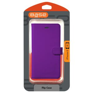 Base Leather Flip Case Iphone 6 - Purple