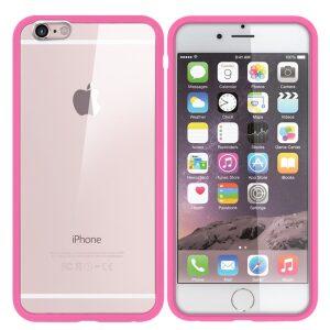 Premium Iphone 6 Bumper Back - Pink/clear
