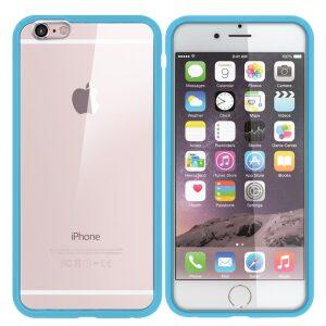 Premium Iphone 6 Bumper Back - Blue/clear