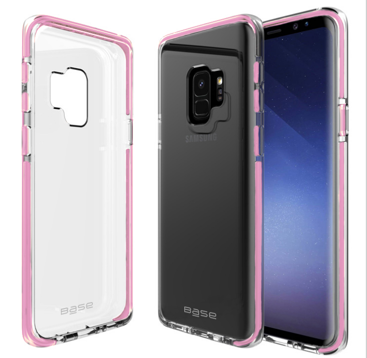 Base BorderLine - Dual Border Impact Protection for Samsung Galaxy S9 Plus - Pink