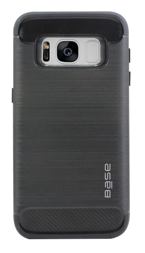 Base ProSlim - Sleek Brushed Protective Case for Samsung Galaxy S8 Plus - Black