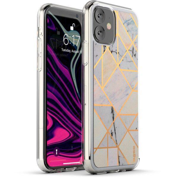 Base IPhone 11 PRO (5.8)- Marble Luxury Shockproof Cover Case - White