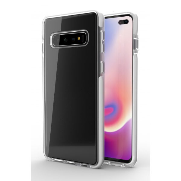 Base BorderLine - Dual Border Impact Protection for Samsung Galaxy S10 Plus - White