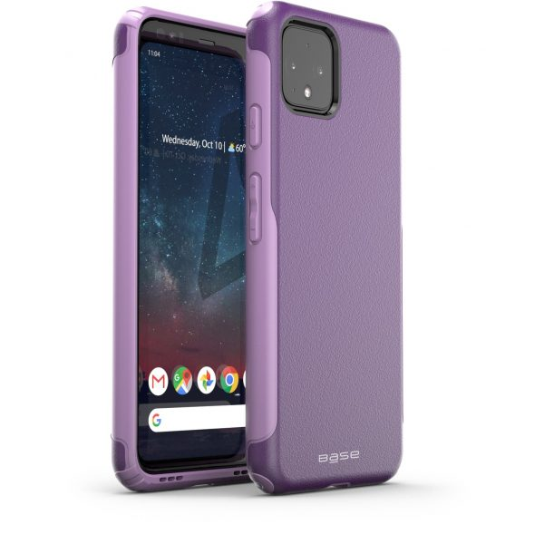 Base Google Pixel 4 ProTech - Rugged Armor Protective Case - Purple