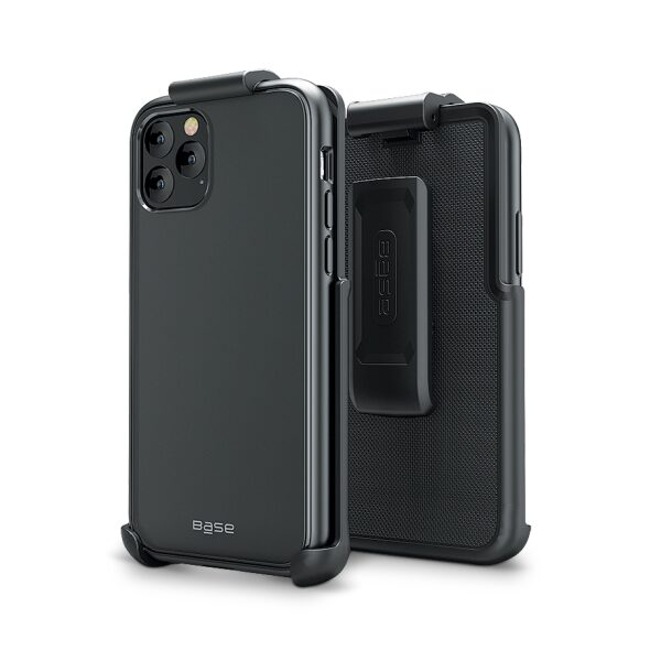 Base DuoHybrid - Reinforced Protective Case w/ Kickstand Holster Combo for iPhone Pro Max (6.5)
