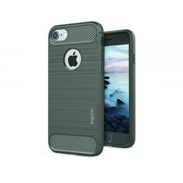 Base ProSlim - Sleek Brushed Protective Case for iPhone - SE -7/8 - Grey