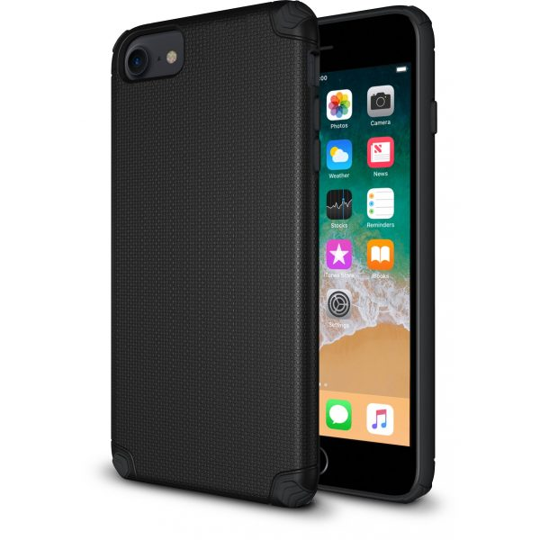 ProTech - Rugged Armor Protective Case for iPhone SE - 6/7/8 - Black