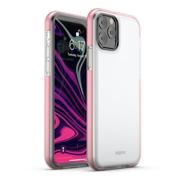 Base  IPhone 11 PRO Max (6.5) -BORDERLINE  Dual Border Impact protection - Pink