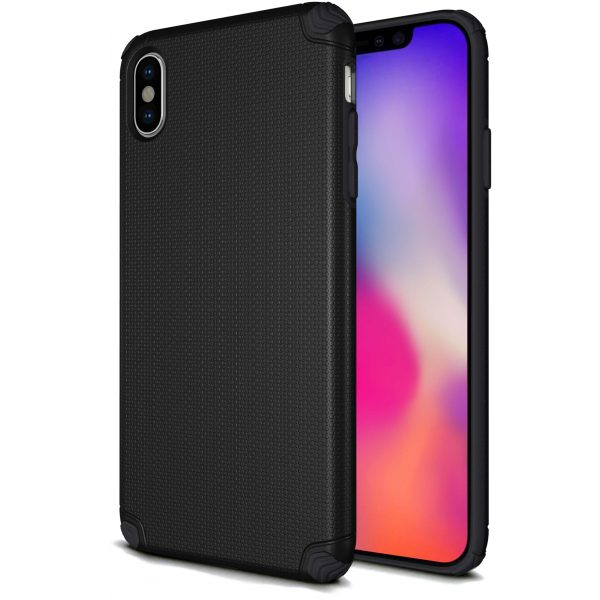 Base ProTech - Rugged Armor Protective Case for iPhone X Max - Black