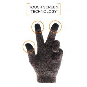 Smart Touch Glove - Brown
