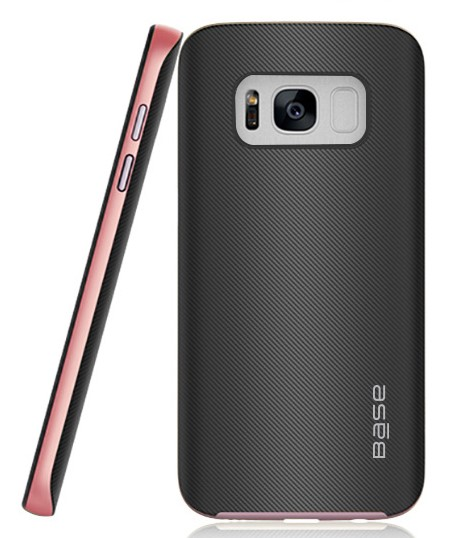 Base DuraSlim Fiber - Protective Case with Reinforced Bumper for Samsung Galaxy S8 Plus - Rose Gold