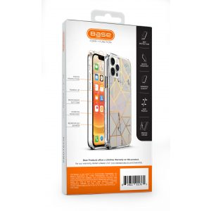 iPhone 12 Pro Max (6.7) - Marble Luxury Shockproof Cover Case - White