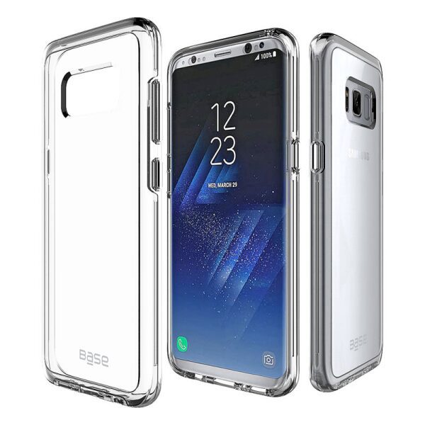 Base Crystal Shield - Reinforced Bumper Protective Case for Samsung S8 Plus - Clear