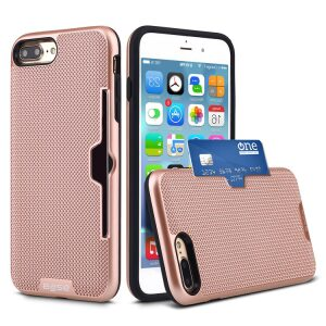 Base DuraFit Stowaway - Dual Layer Protective Credit Card Case for iPhone 7/8 Plus - Rose Gold