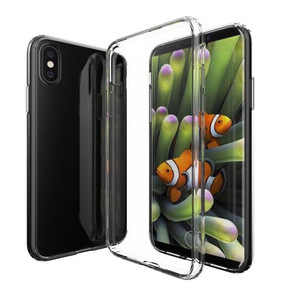 Base b-Air - Crystal Clear Slim Protective Case for iPhone X