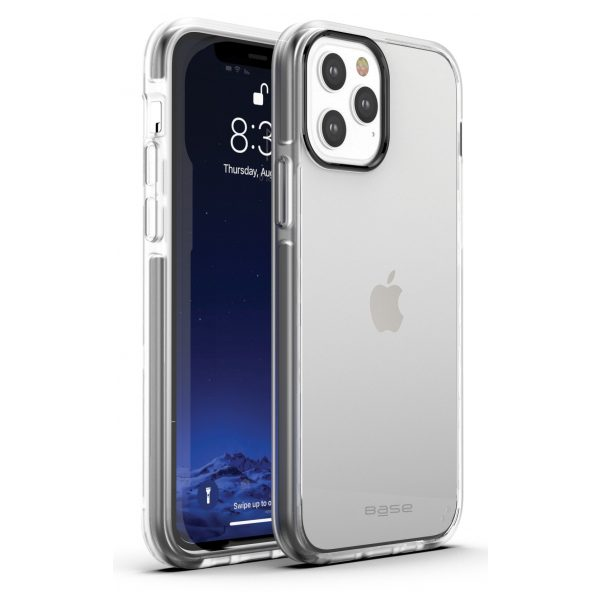 Base iPhone 12 / iPhone 12 Pro (6.1) - BORDERLINE Dual Border Impact protection - Gray