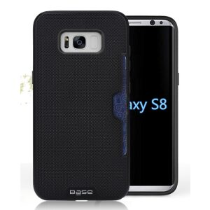 Base DuraFit Stowaway - Dual Layer Protective Credit Card Case for Samsung Galaxy S8 Plus - Black