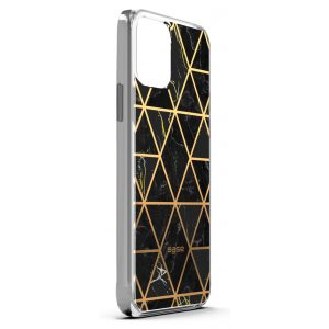 iPhone 12 Pro Max (6.7) - Marble Luxury Shockproof Cover Case - Black