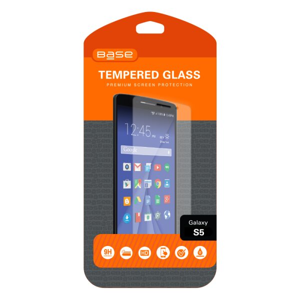Base Premium Tempered Glass Screen Protector For Galaxy S5