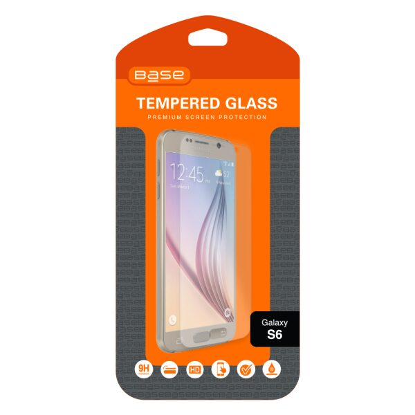 Base Premium Tempered Glass Screen Protector For Galaxy S6